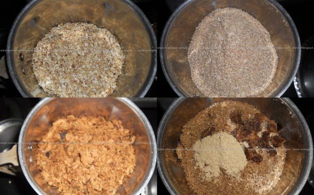 oats and flax seeds laddu